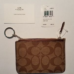 Coach KEY POUCH WITH GUSSET